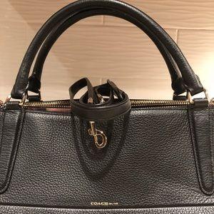 Coach Borough Handbag Black Pebbled Leather